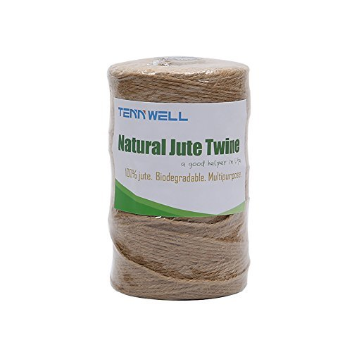 Tenn Well Jute Twine, Natural Thick Jute String 3Ply Jute Rope for  Floristry, Gifts, DIY Arts&Crafts, Decoration, Bundling, Garden and  Recycling