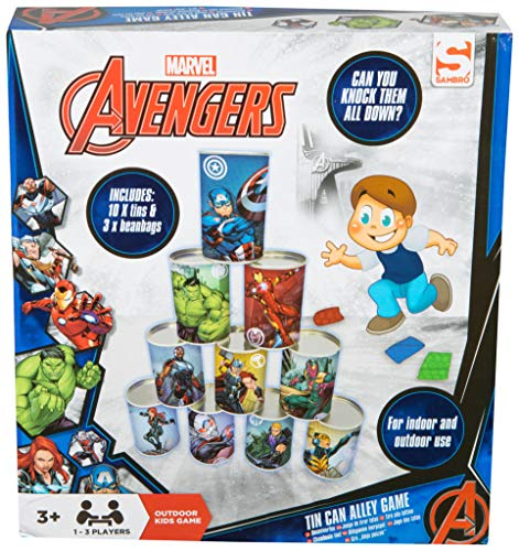 Magnificent Avengers Alley Indoor And Outdoor Use 10 Tin Cans And 3 Bean Bags Included Fun Family Garden Game For Kids With Captain Marvel Hulk And Iron Man Gmtry Best Dining Table And Chair Ideas Images Gmtryco