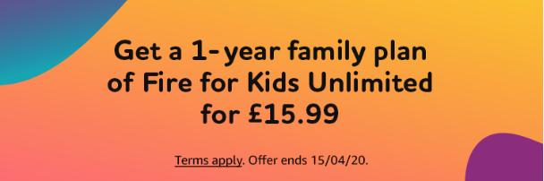 1-Year Family Plan of Fire for Kids Unlimited for £15.99